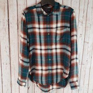 American Eagle Flannel Soft Top sz Small